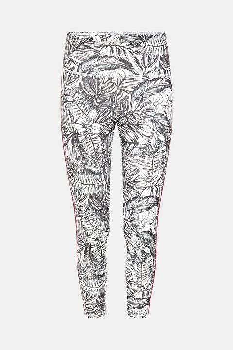 Active leggings with botanic print, E-DRY