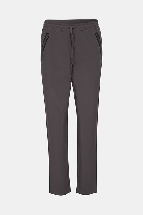 Woven trousers with piping, E-DRY