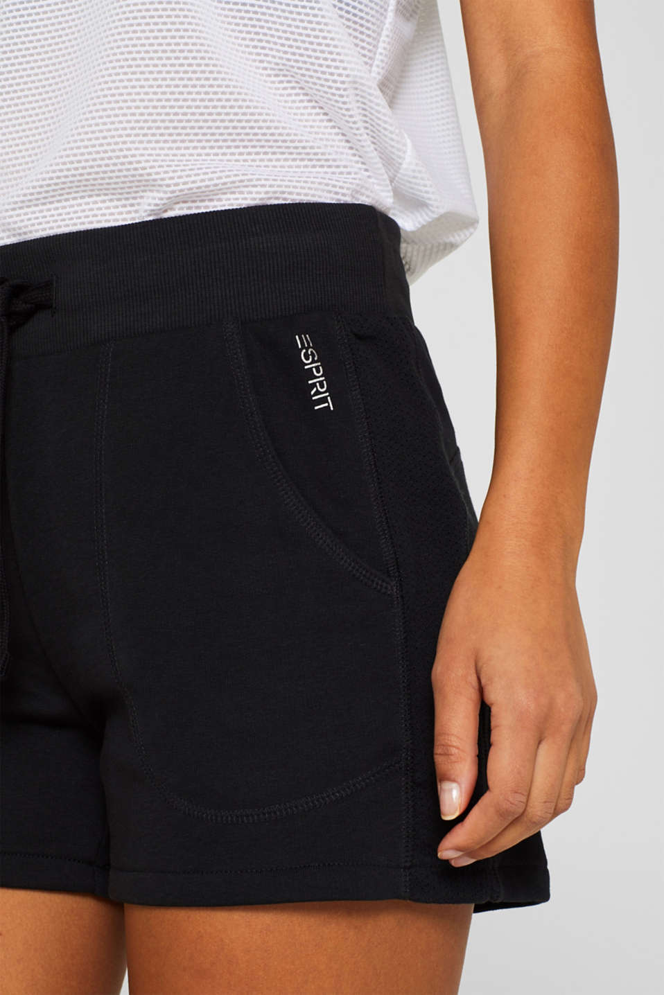 Shorts knitted, BLACK, detail image number 2