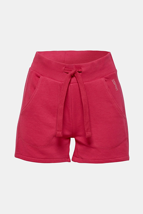 Sweatshirt shorts with perforated inserts