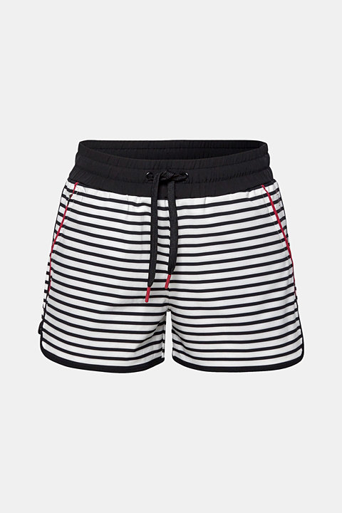 Striped stretch woven shorts, E-DRY