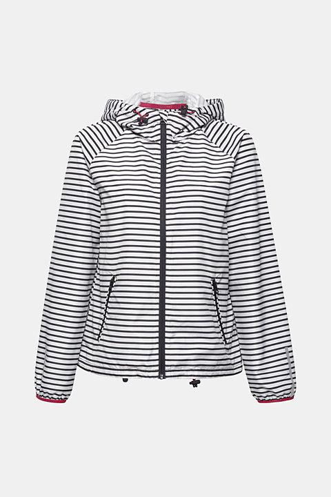 Water-repellent nylon jacket with hood