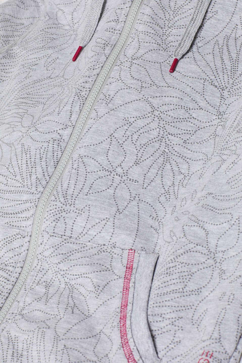 Sweatshirts cardigan, LIGHT GUNMETAL 2, detail image number 4
