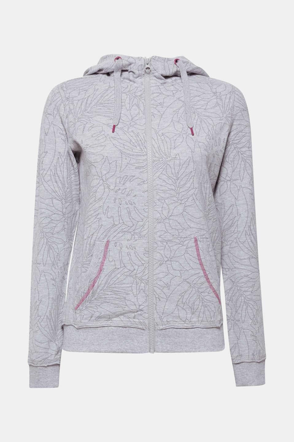 Sweatshirts cardigan, LIGHT GUNMETAL 2, detail image number 6