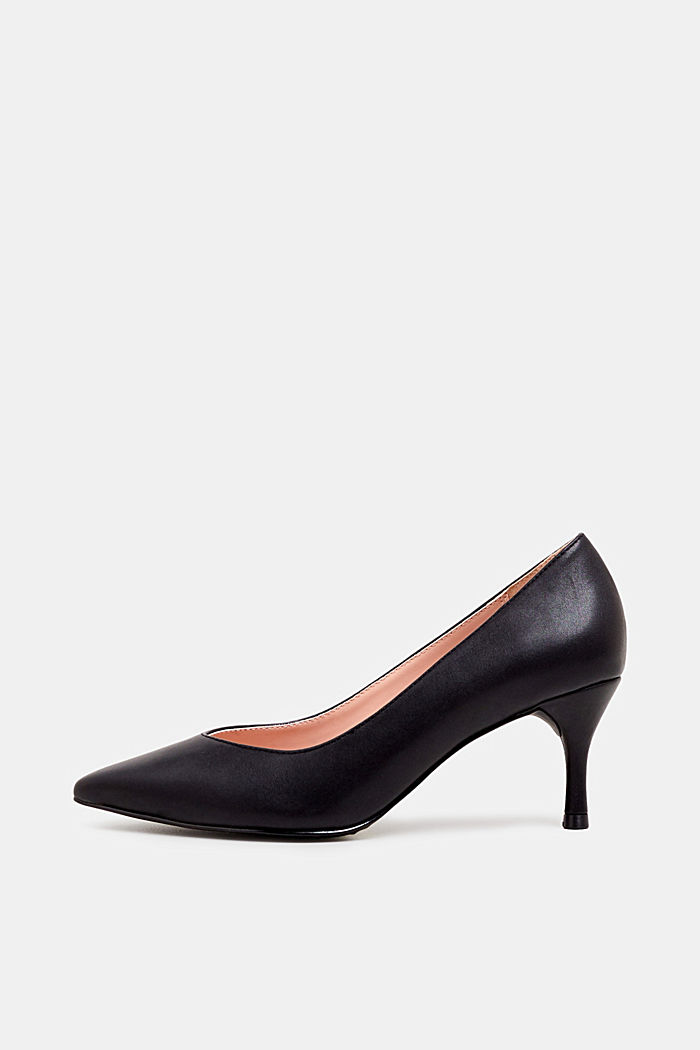 Faux leather court shoes