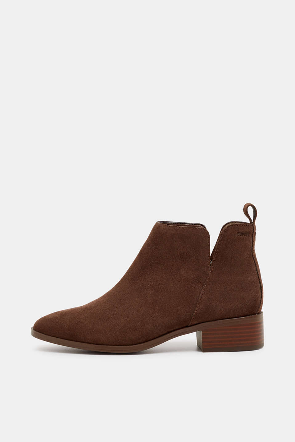 Esprit - Bottines en cuir velours