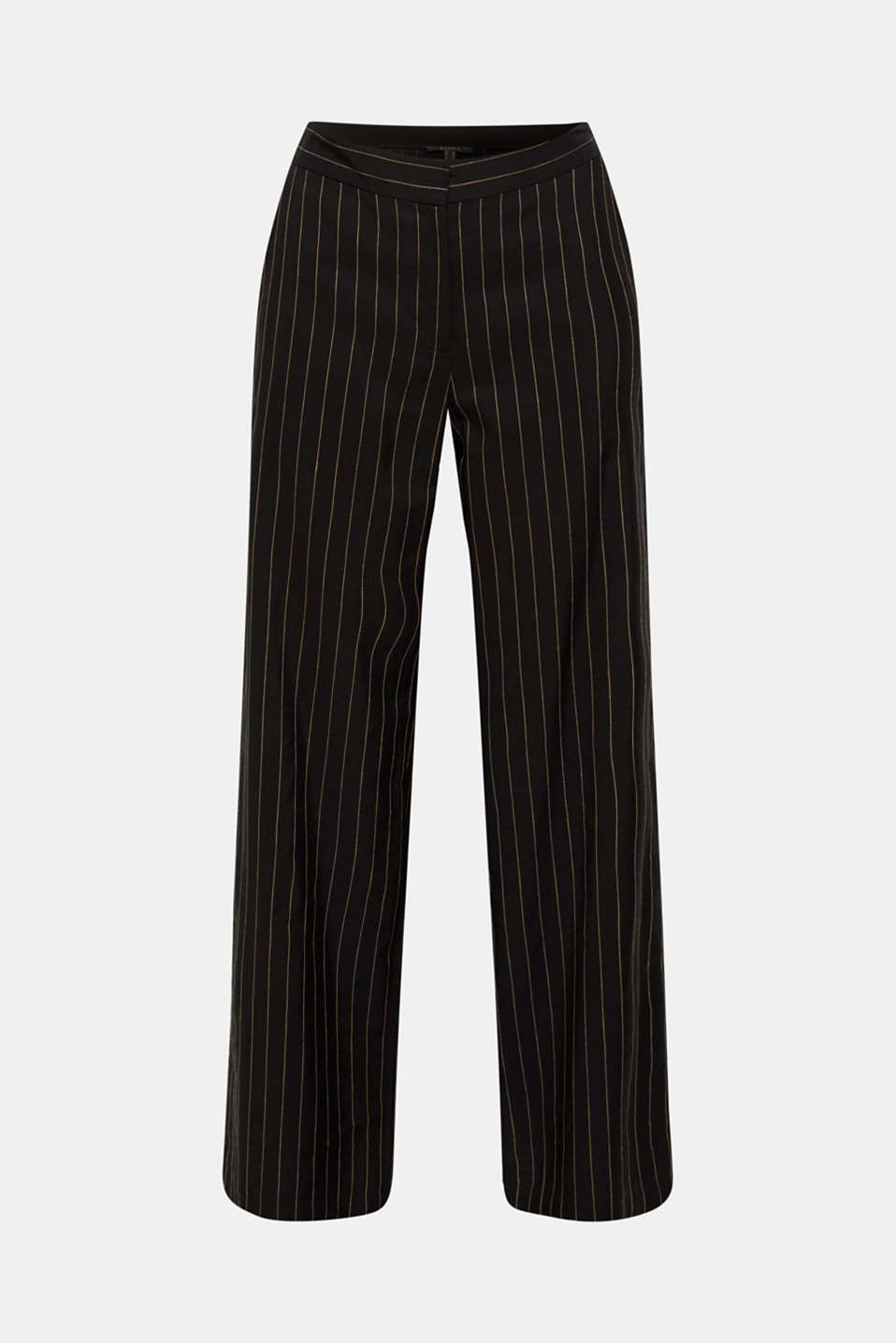 Pinstripe mix + match trousers with a wide leg