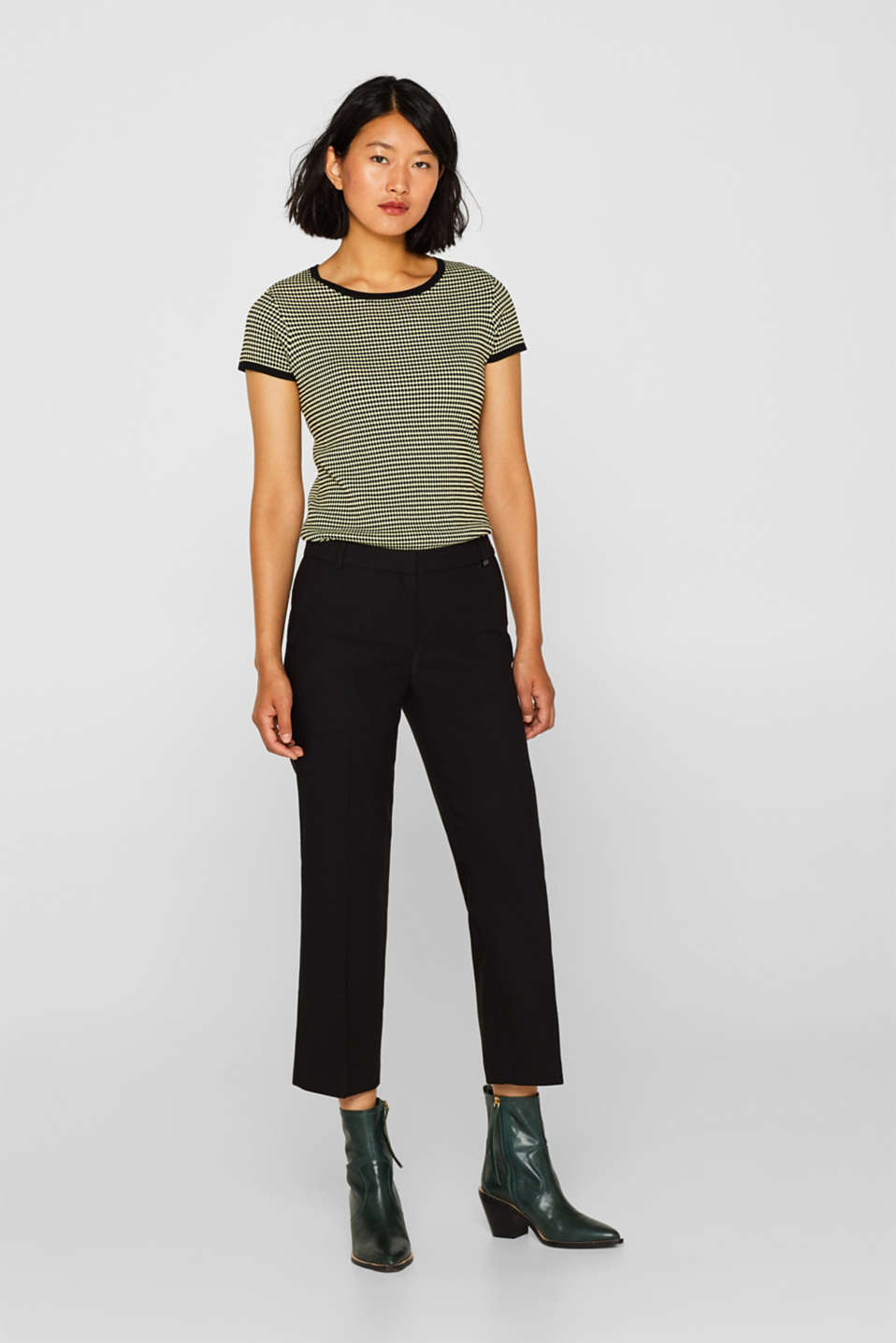 Esprit - Ankle-length mix + match trousers with stretch