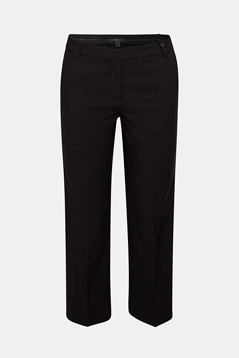 BASIC Mix + Match ankle-length stretch trousers