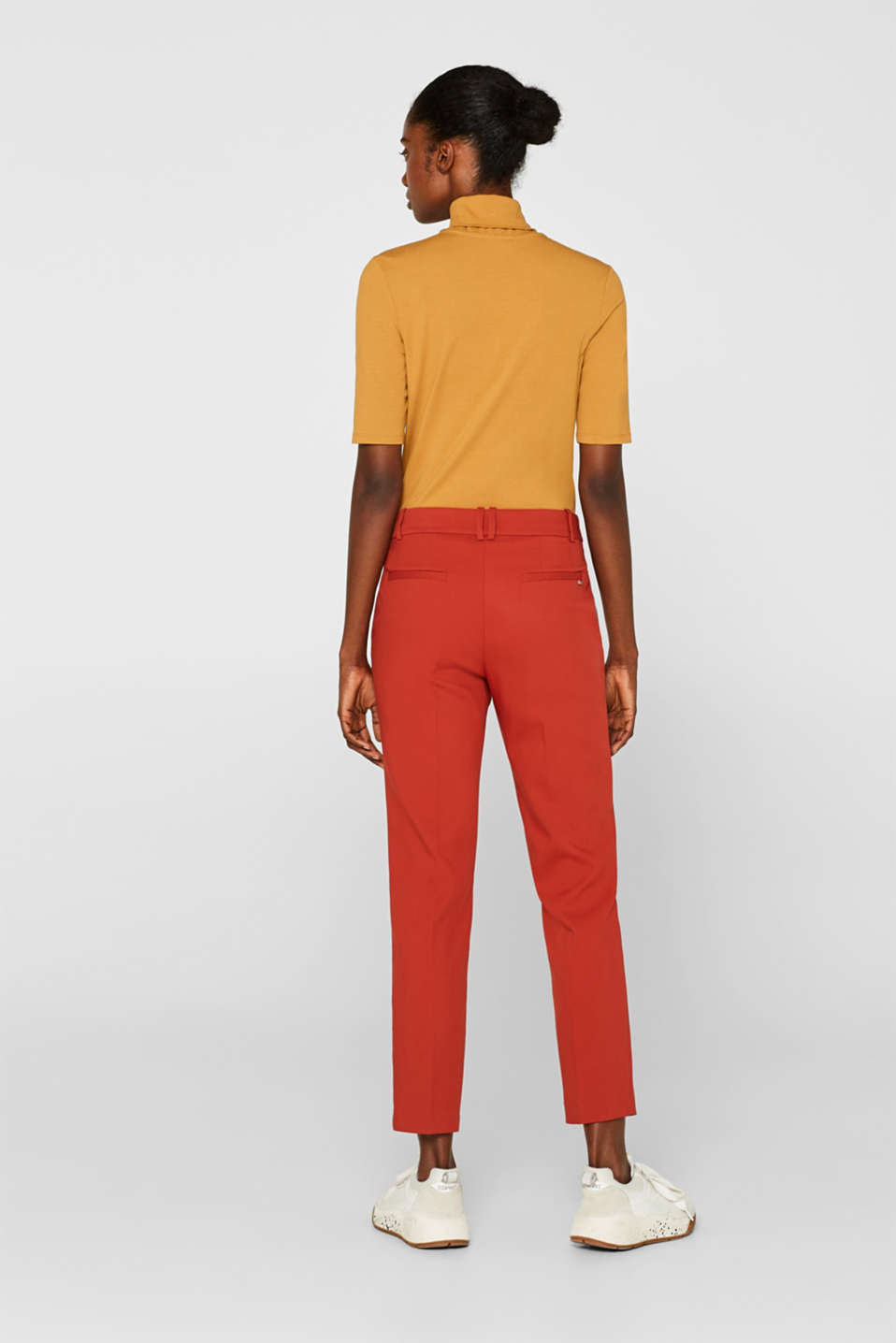 Classic mix + match trousers with stretch, TERRACOTTA, detail image number 3
