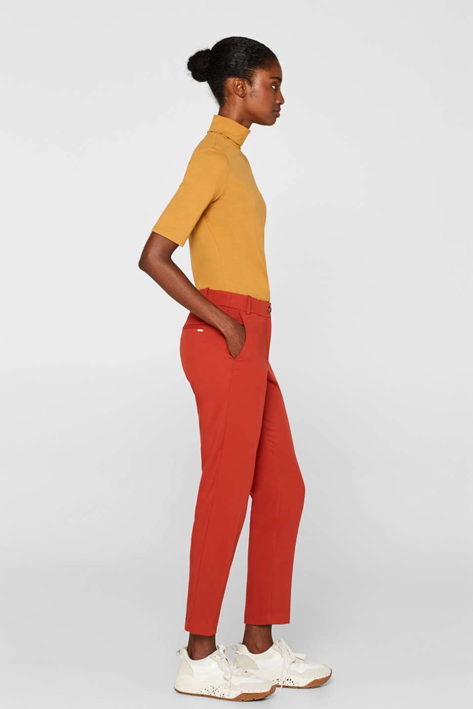 Classic mix + match trousers with stretch, TERRACOTTA, detail image number 5