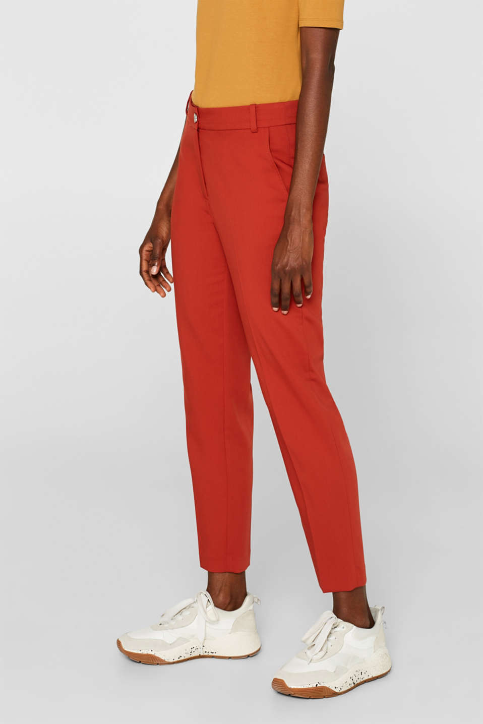 Classic mix + match trousers with stretch, TERRACOTTA, detail image number 6