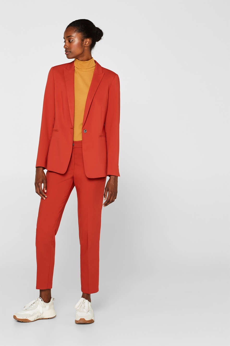 Classic mix + match trousers with stretch, TERRACOTTA, detail image number 1