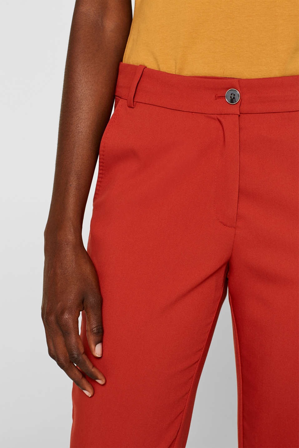 Classic mix + match trousers with stretch, TERRACOTTA, detail image number 4