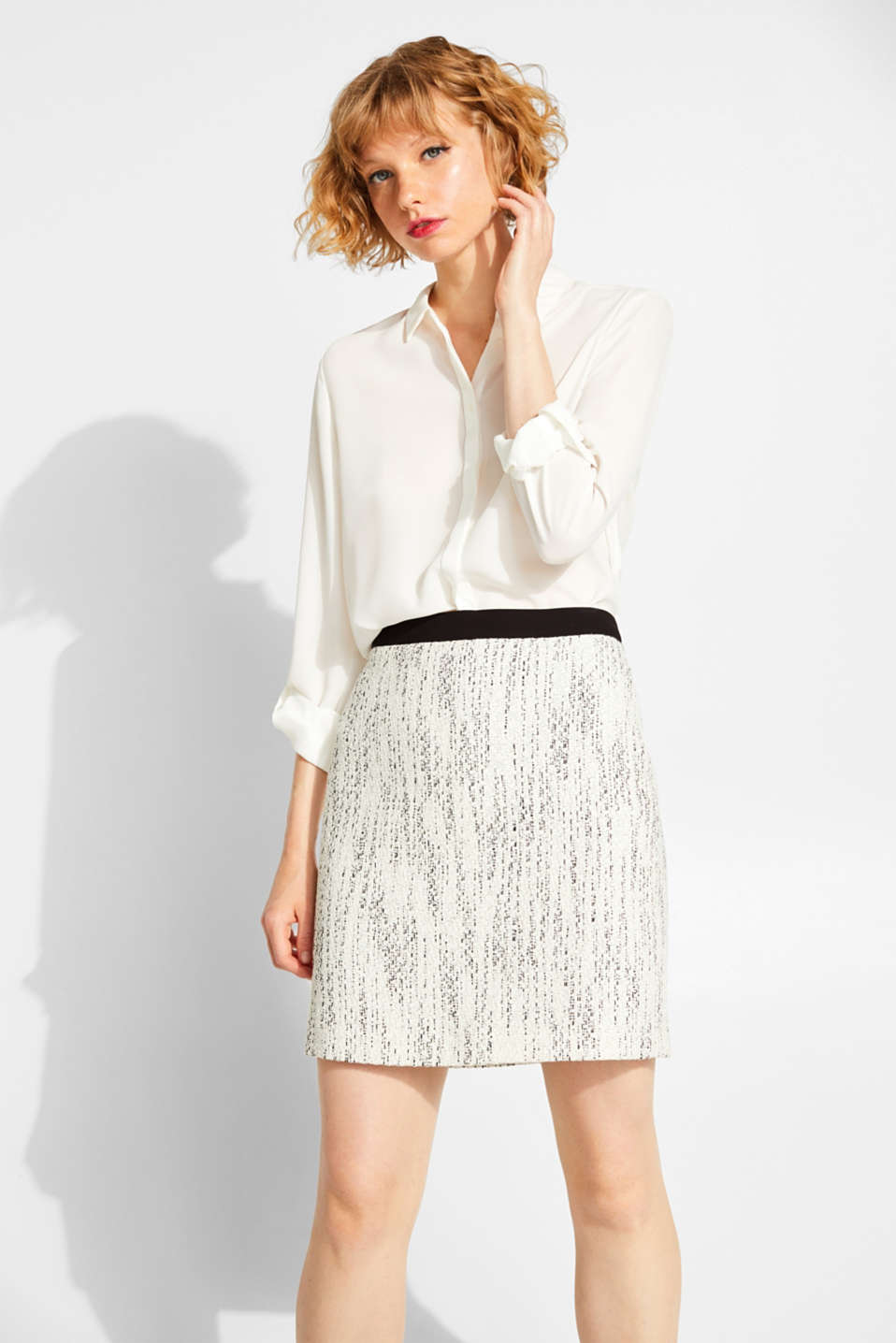 Skirts woven, OFF WHITE, detail image number 0