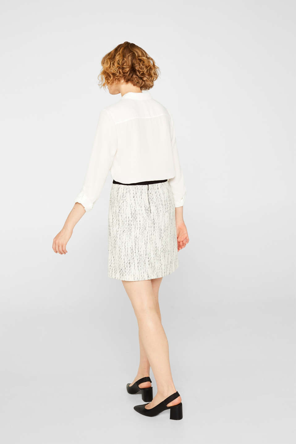 Skirts woven, OFF WHITE, detail image number 3