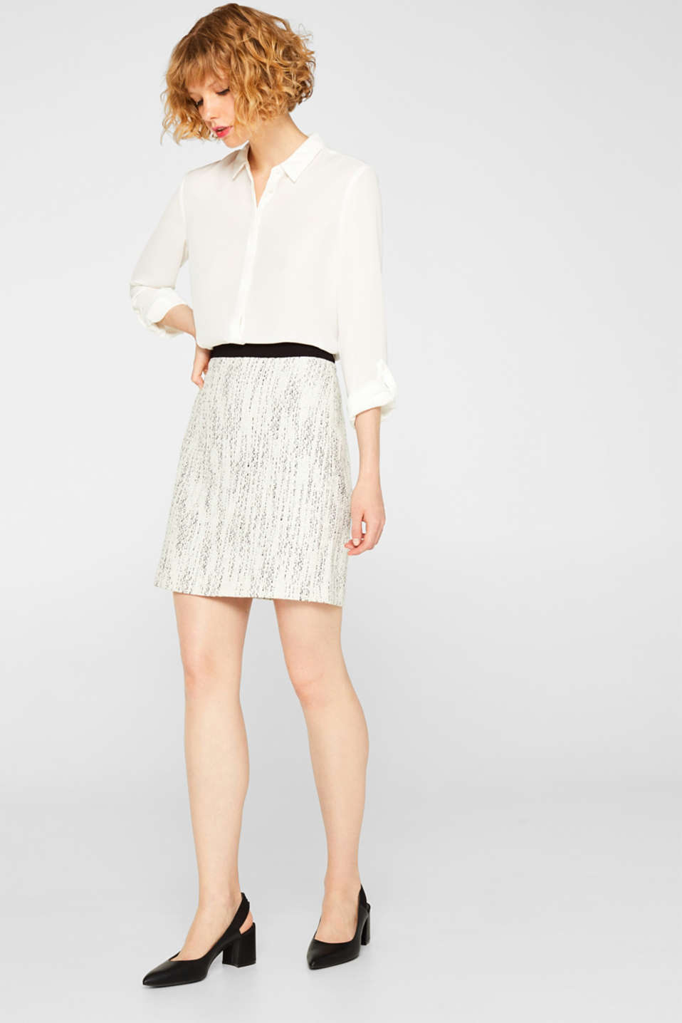 Skirts woven, OFF WHITE, detail image number 1