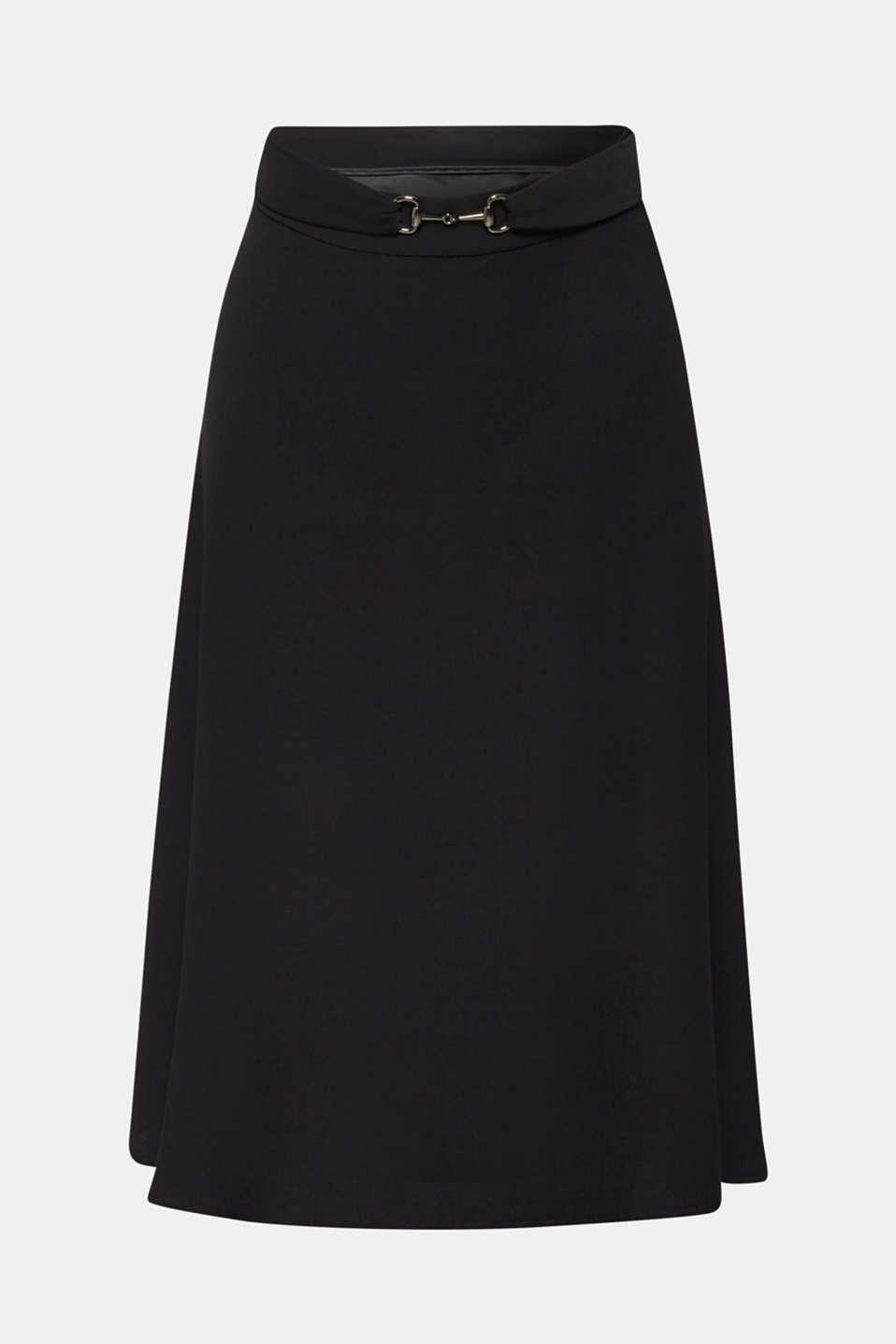 Skirts light woven, BLACK, detail image number 8