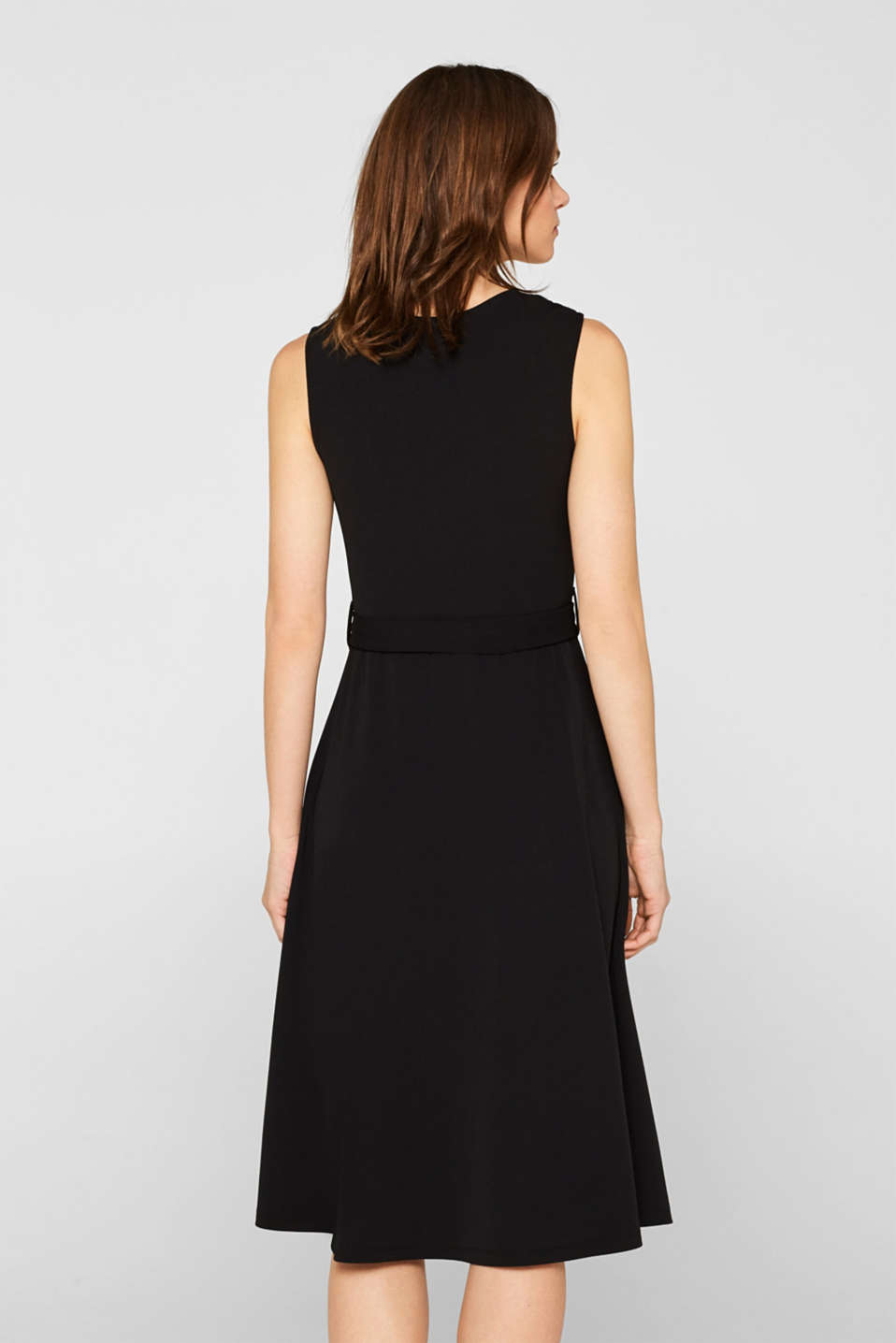Stretch jersey dress with decorative rings, BLACK, detail image number 2