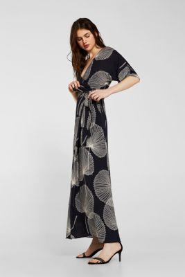 0efa8c72b4c6a3 Esprit - Maxi-Kleid aus Jacquard-Stoff mit Wickeleffekt im Online ...