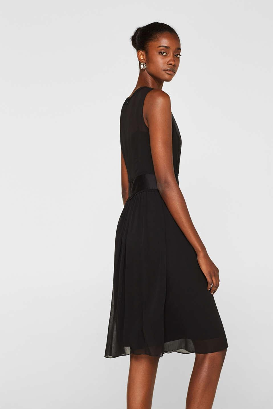Dresses light woven, BLACK, detail image number 5