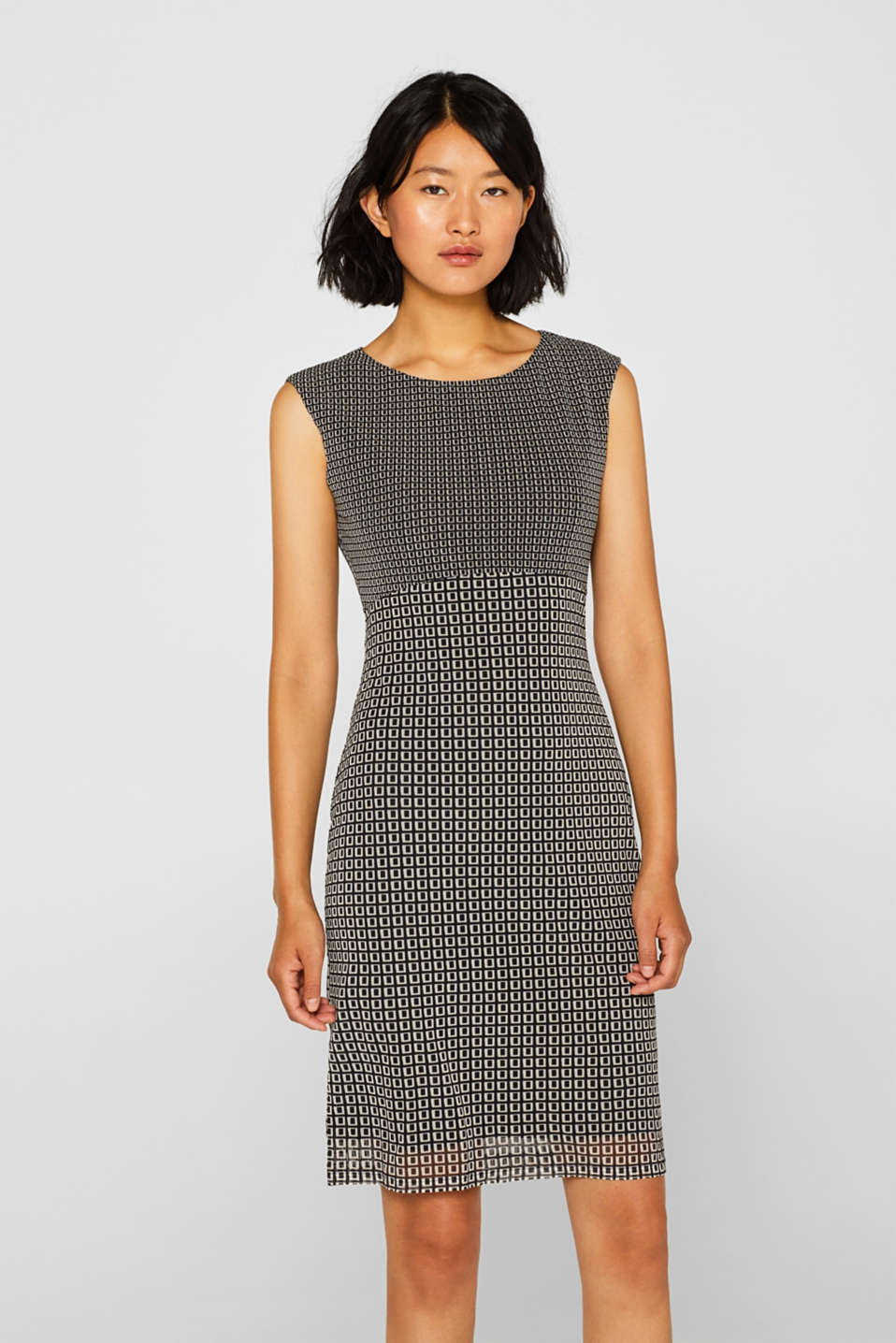 Esprit - Mesh jurk met print all-over