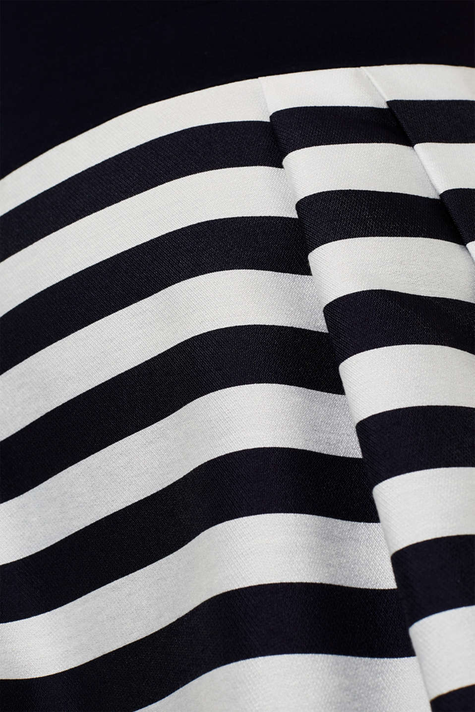 Stretch jersey and fabric dress, NAVY, detail image number 3
