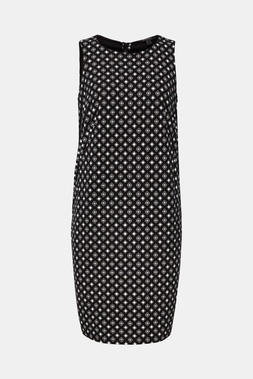 O-shaped dress made of patterned stretch jersey, BLACK 2, detail image number 6