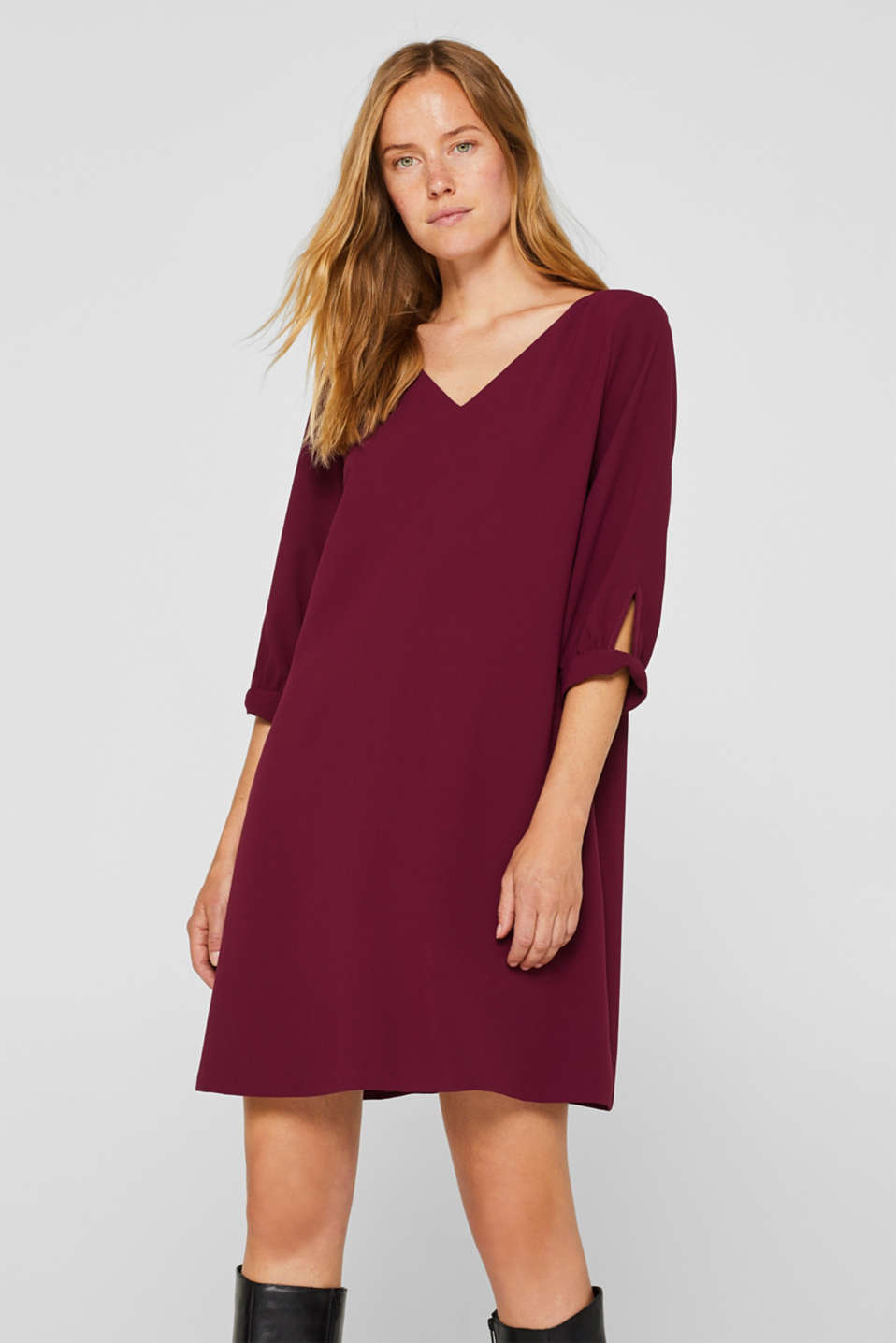Esprit - Flowing crêpe dress