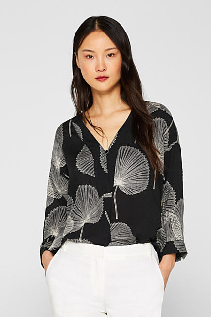 fe71e4dc8e Botanic print blouse with raglan sleeves