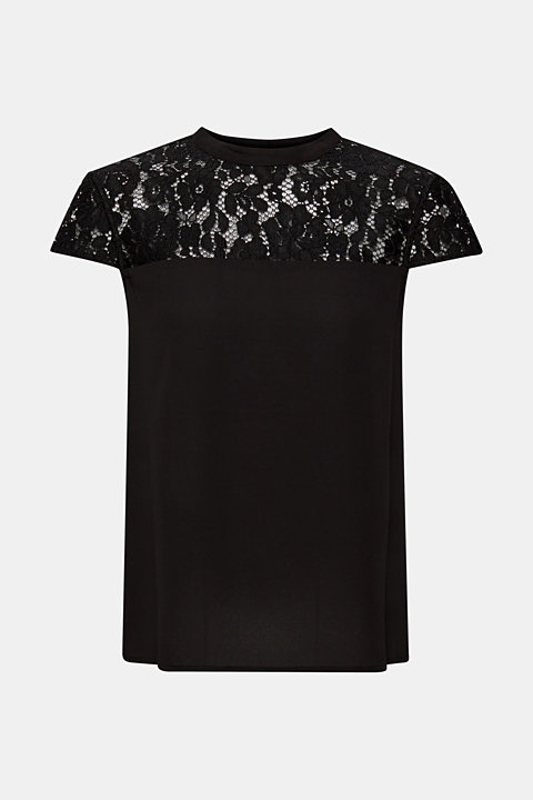 blouse top with a lace section