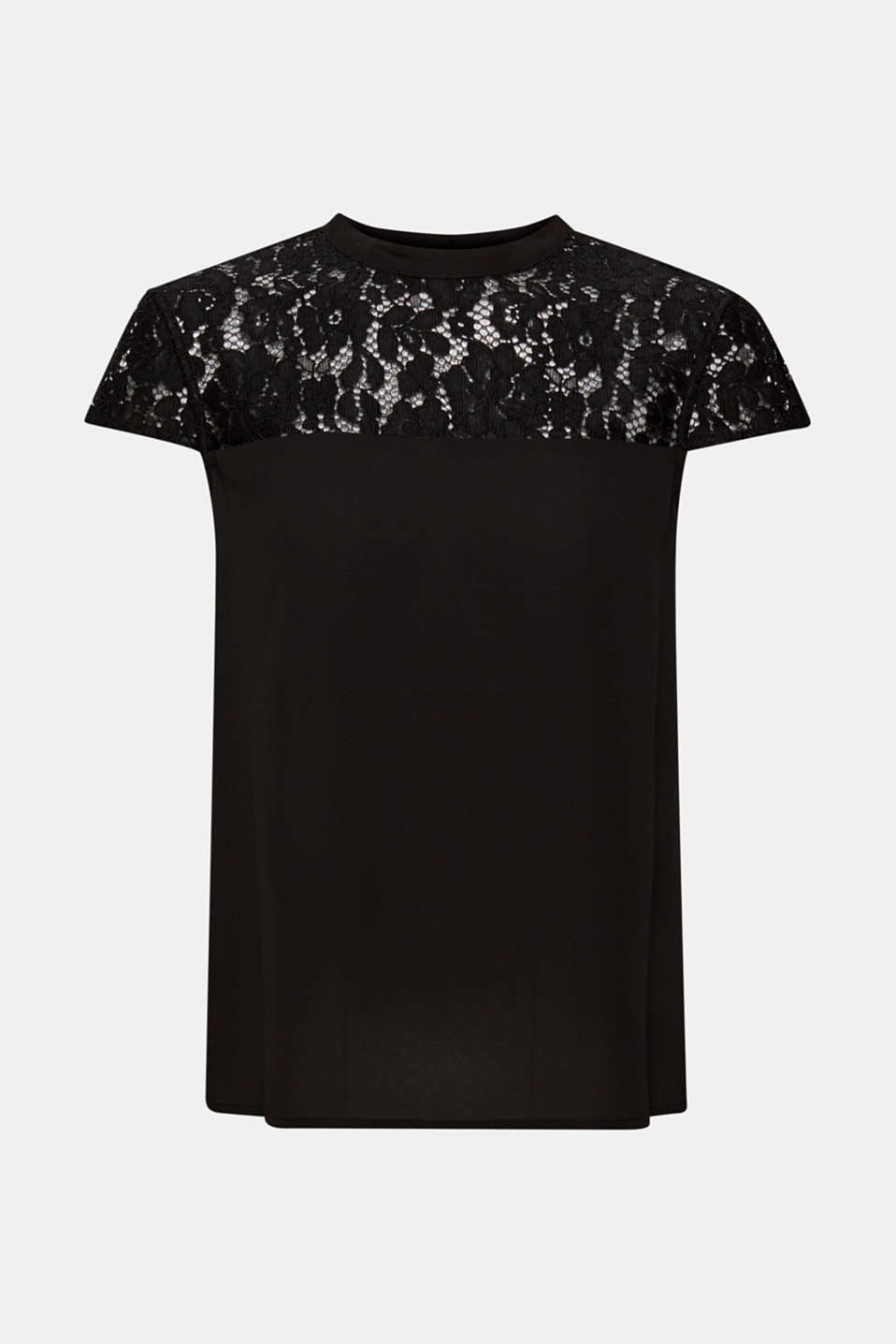 Esprit - blouse top with a lace section
