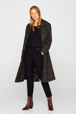 Unembellished blouse, 100% silk, BLACK, detail