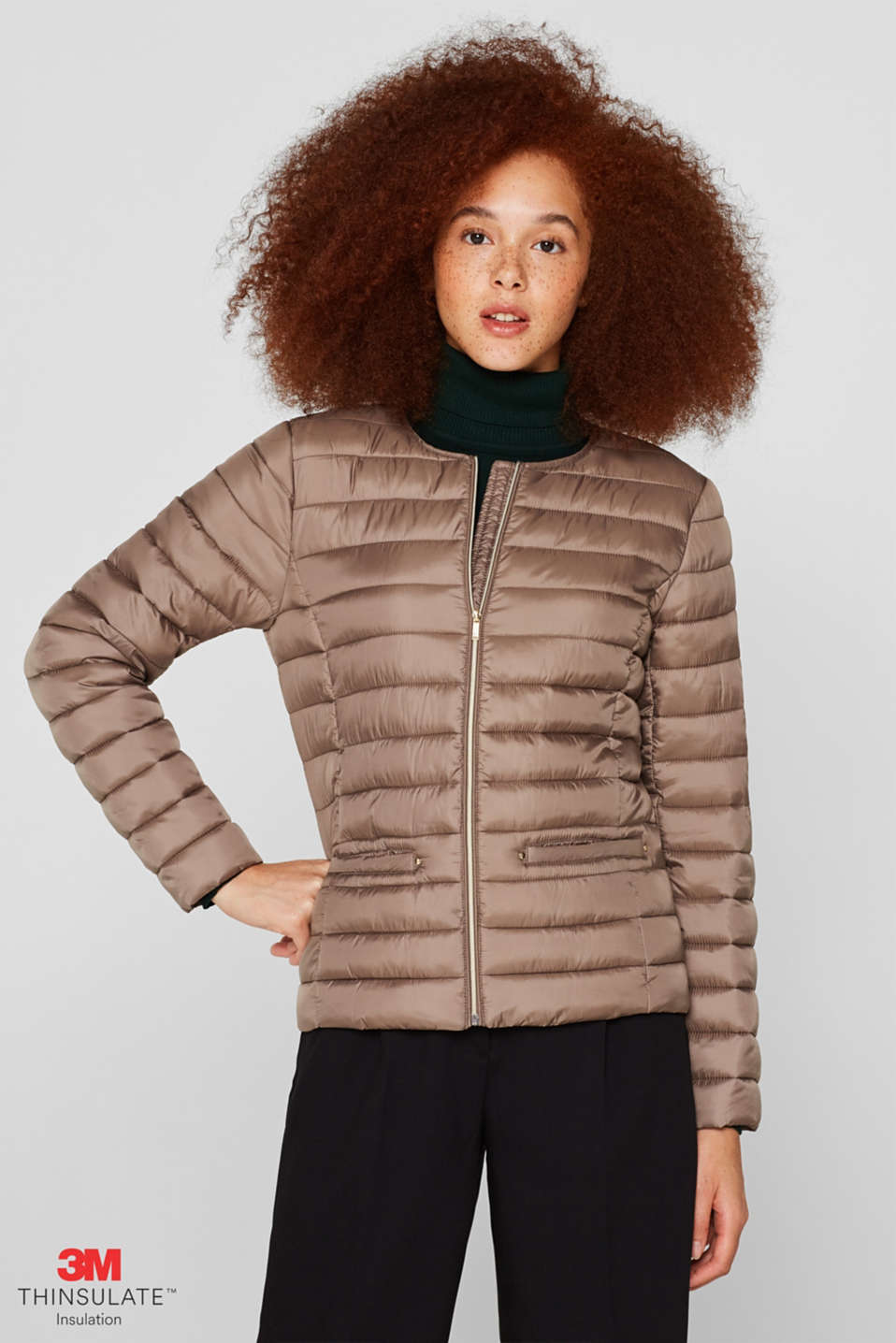 Jackets outdoor woven, TAUPE, detail image number 0