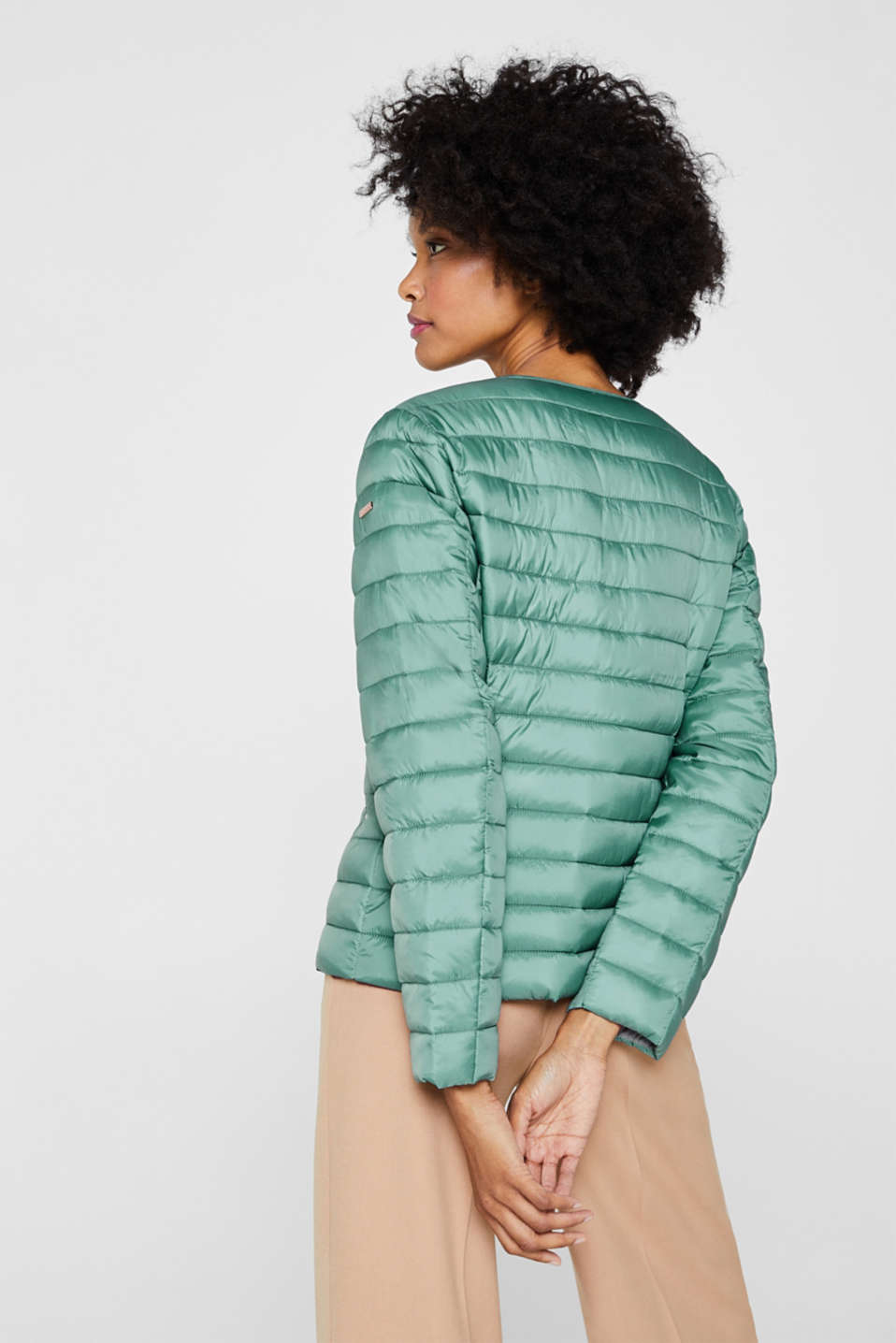 Lightweight quilted jacket with 3M™ Thinsulate™ filling, DUSTY GREEN, detail image number 1