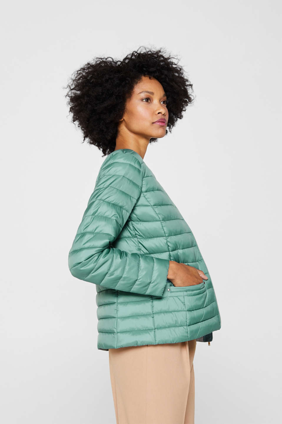 Lightweight quilted jacket with 3M™ Thinsulate™ filling, DUSTY GREEN, detail image number 3