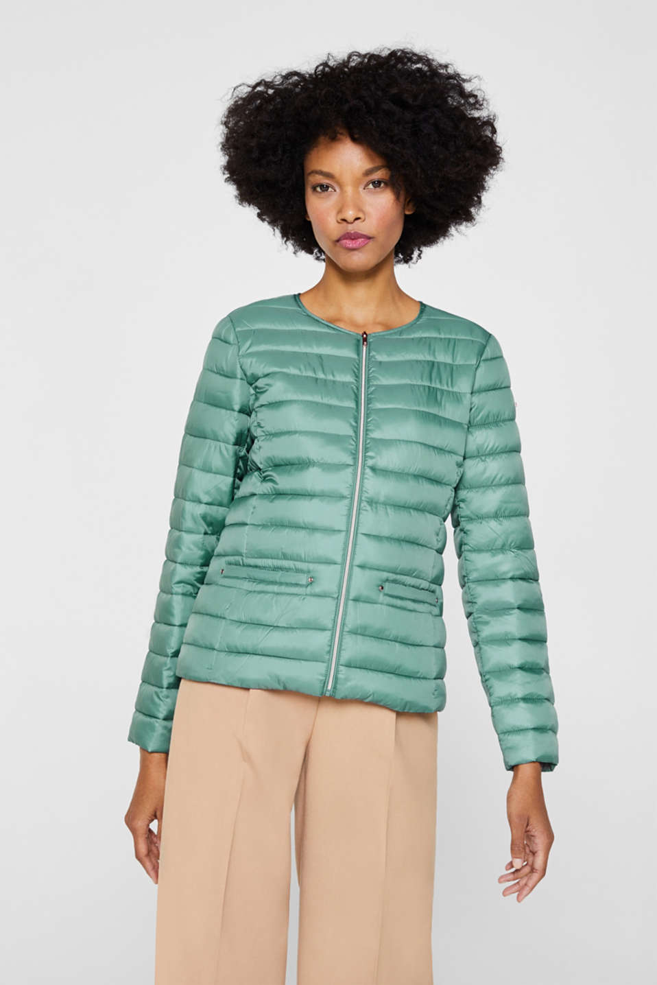 Lightweight quilted jacket with 3M™ Thinsulate™ filling, DUSTY GREEN, detail image number 5