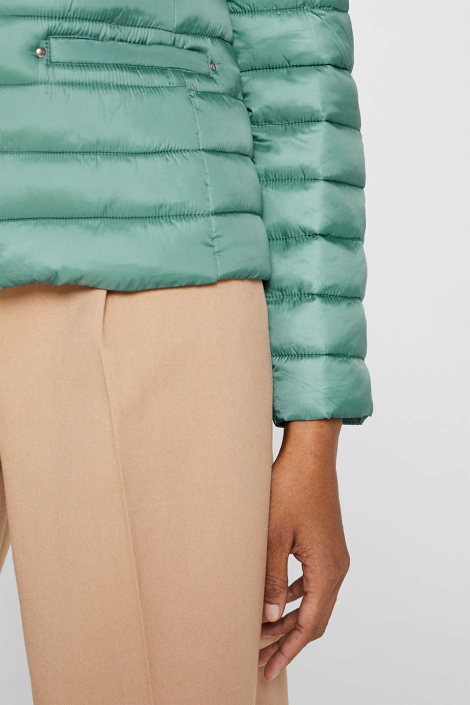 Lightweight quilted jacket with 3M™ Thinsulate™ filling, DUSTY GREEN, detail image number 4