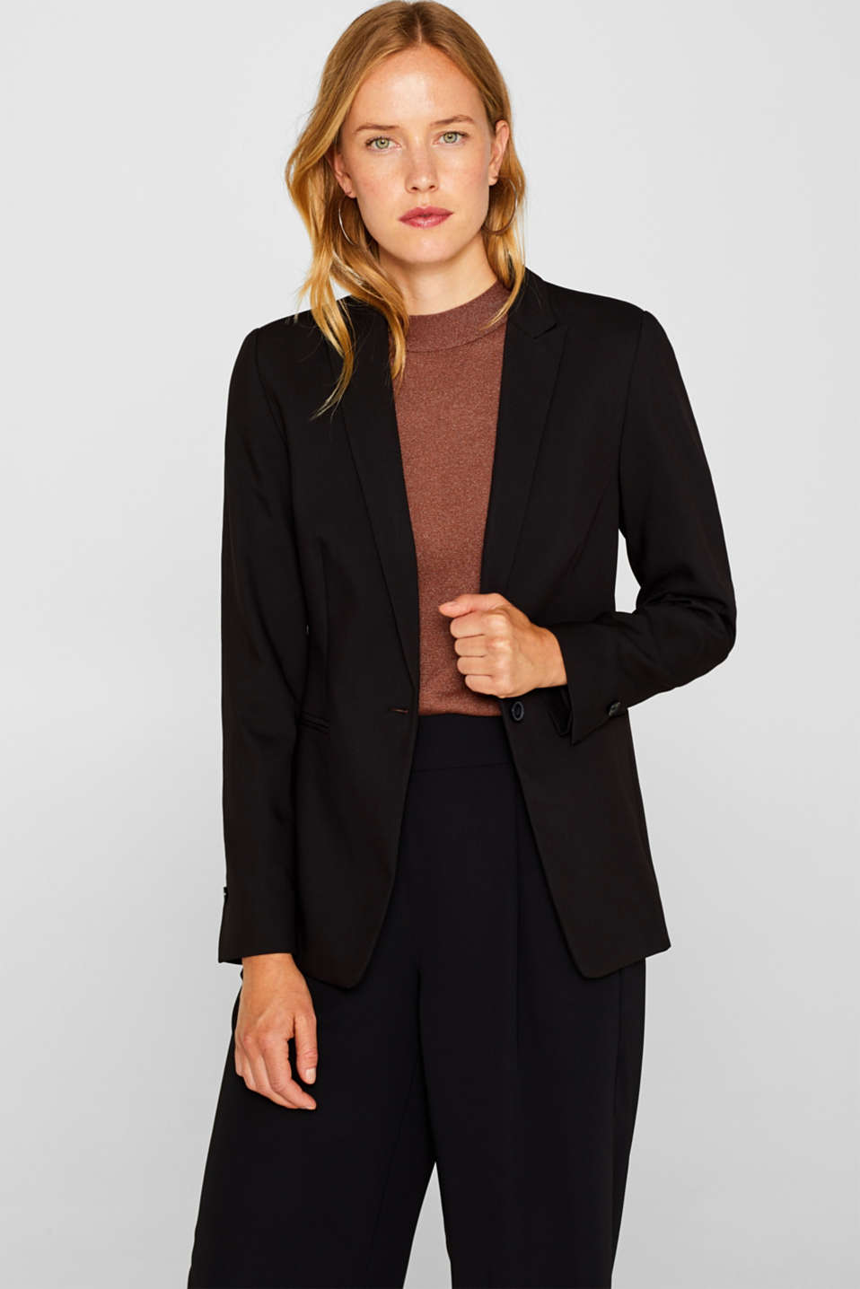 Esprit - BASIC Blazer elástico Mix + Match