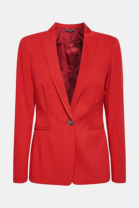 Fitted mix + match stretch blazer