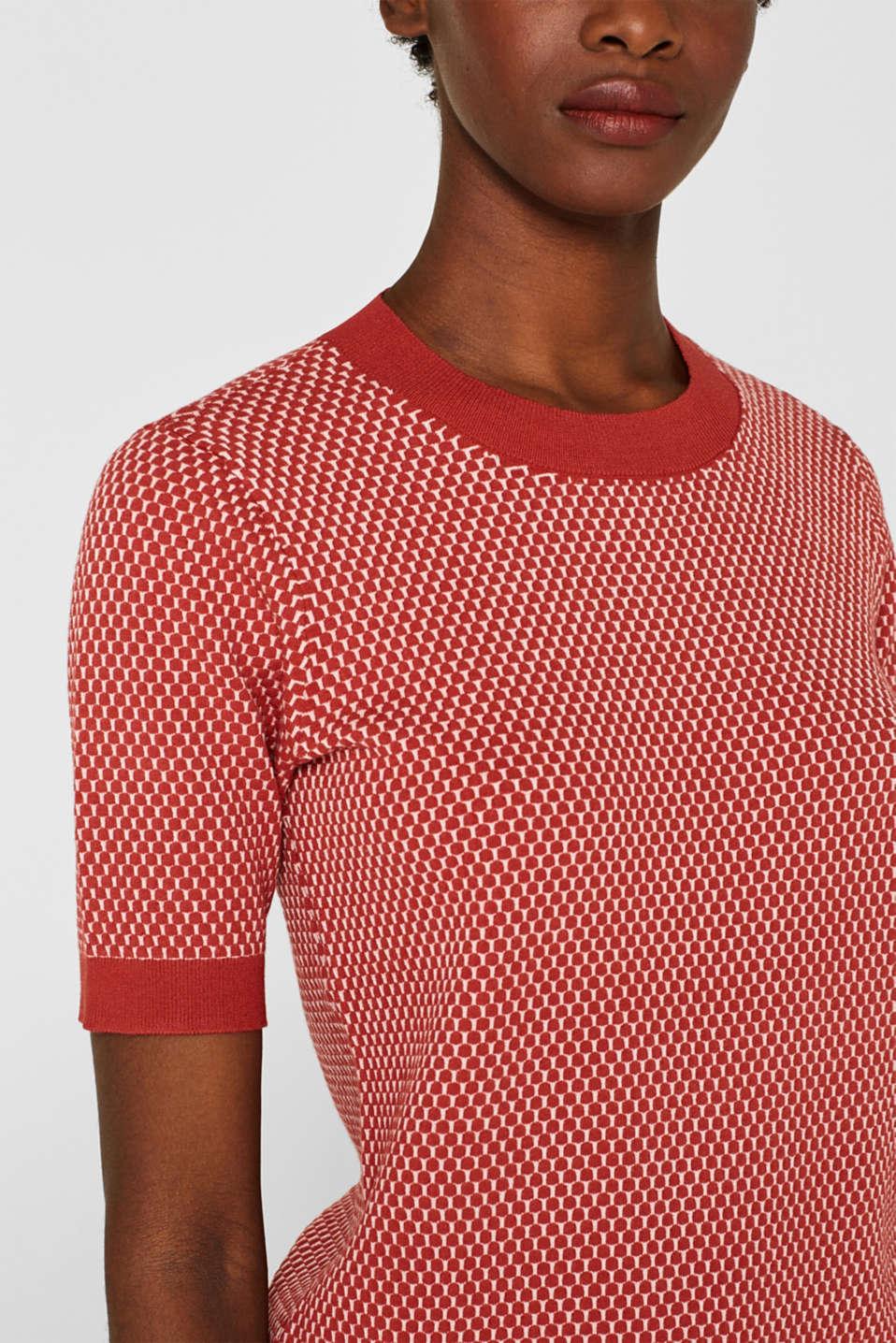 Sweaters, DARK RED, detail image number 2