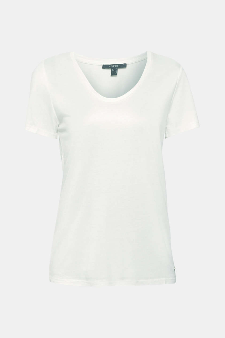 Shimmering top with a beautiful neckline, OFF WHITE, detail image number 7