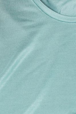 Shimmering top with a beautiful neckline, DUSTY GREEN, detail