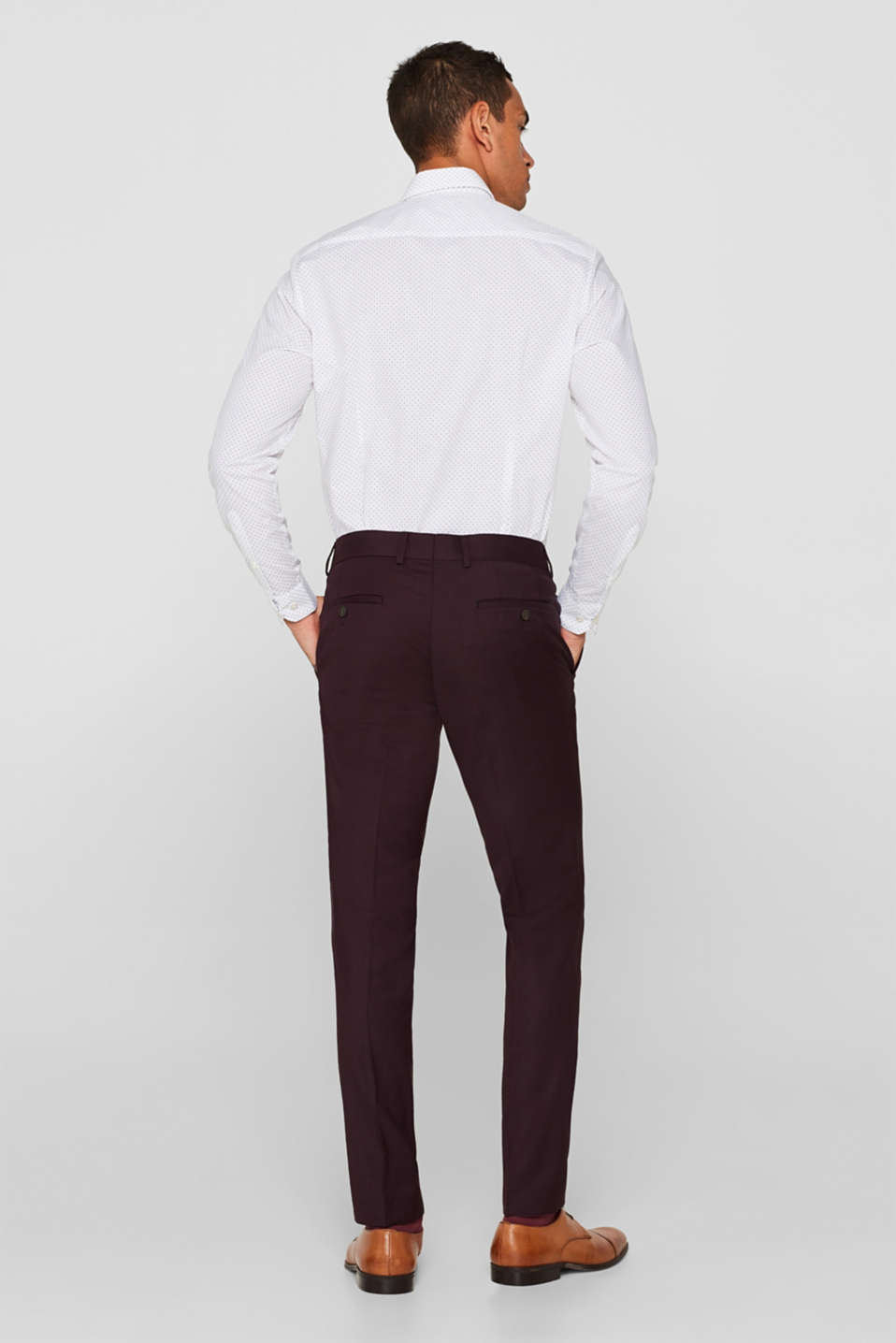 Pants suit, BORDEAUX RED, detail image number 1