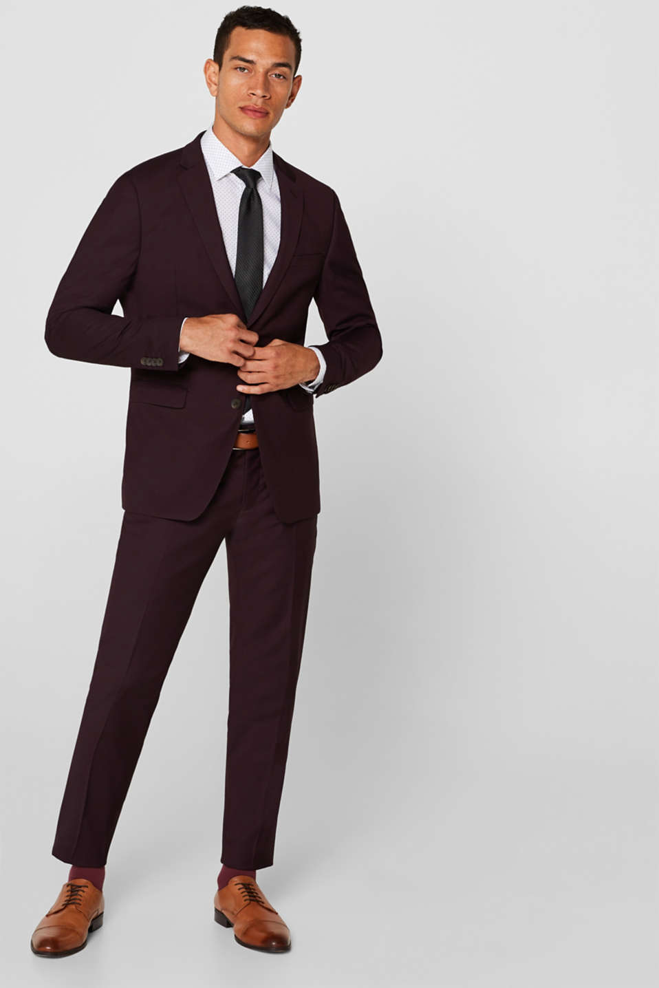 Pants suit, BORDEAUX RED, detail image number 2