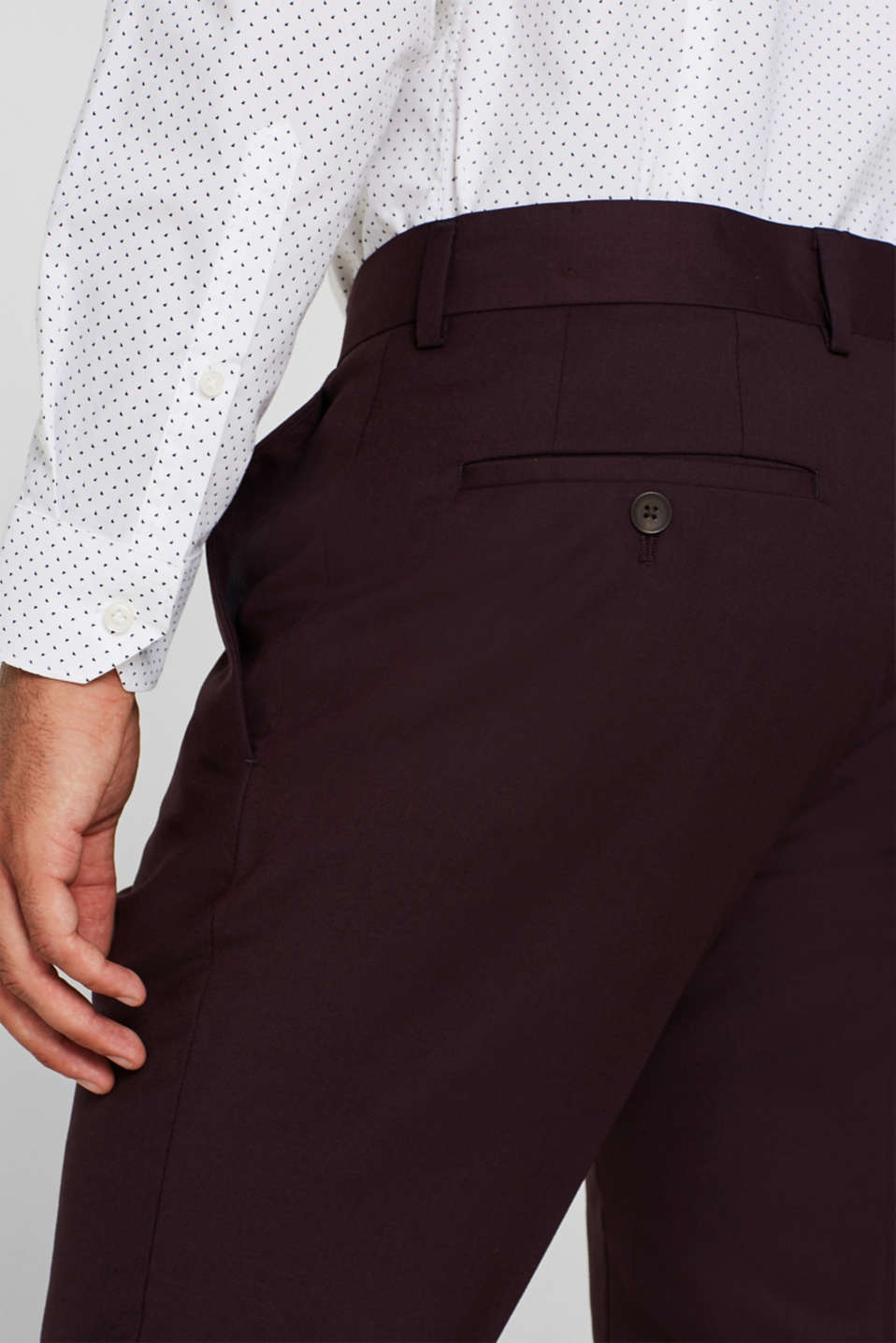 Pants suit, BORDEAUX RED, detail image number 3