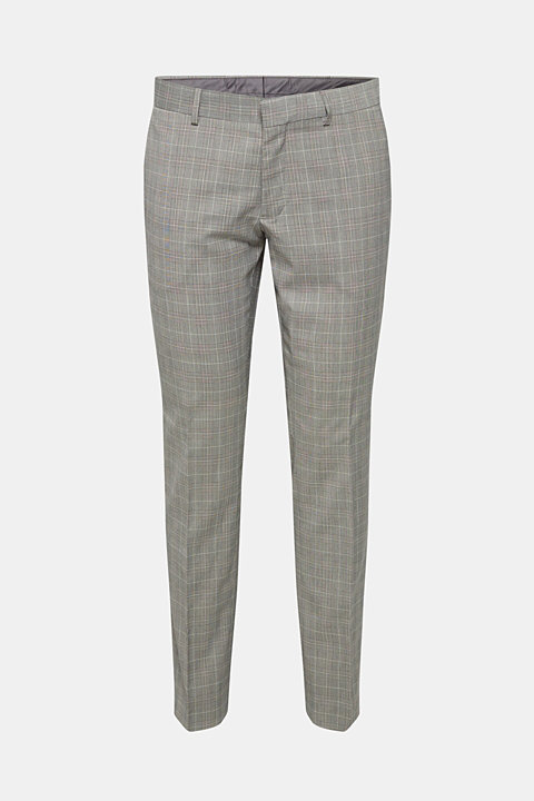 GLENCHECK mix + match: trousers with pressed pleats