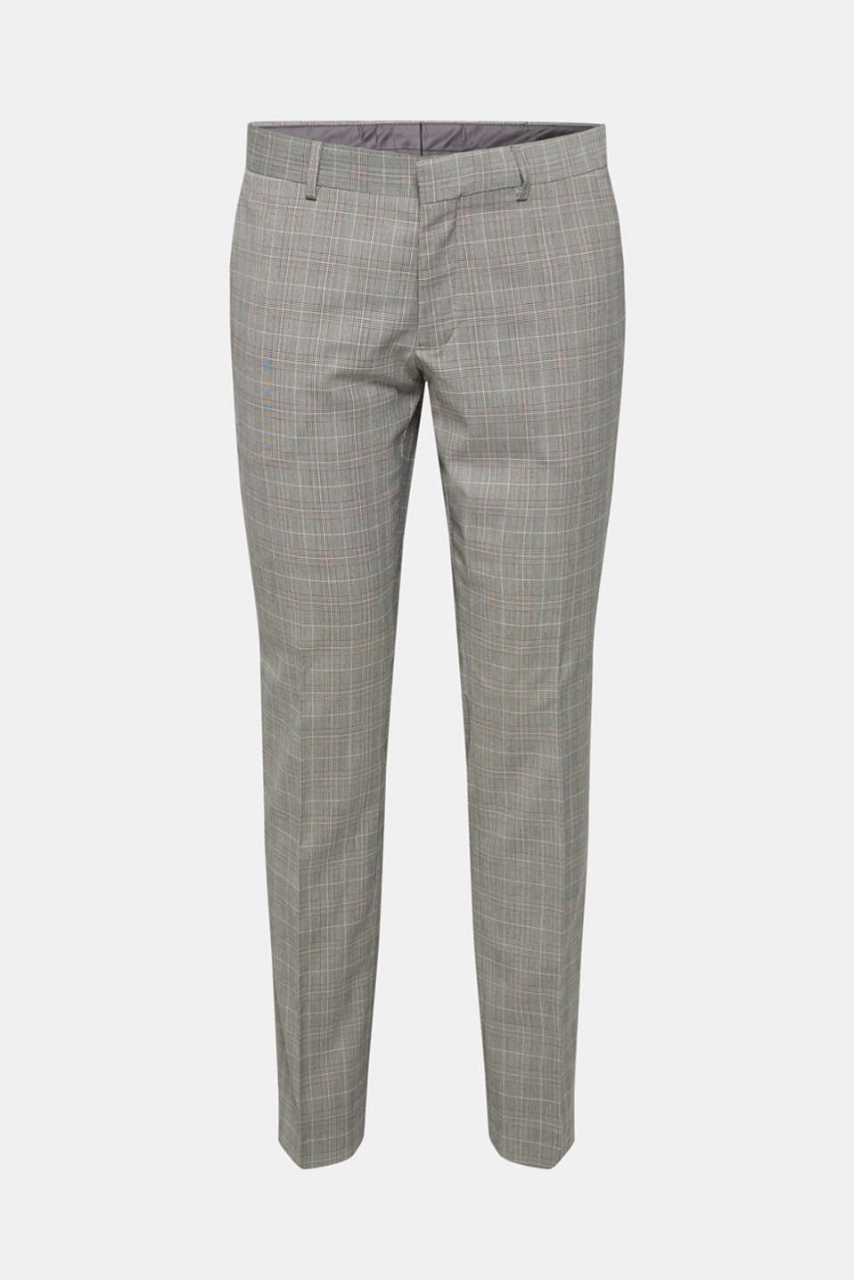 GLENCHECK mix + match: trousers with pressed pleats, GREY, detail image number 5