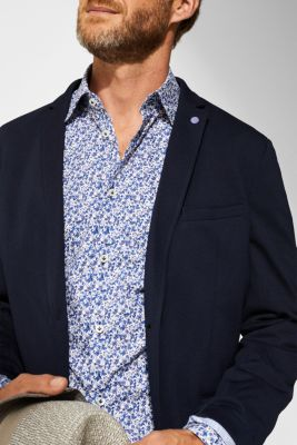 Poplin shirt with a floral print, 100% cotton