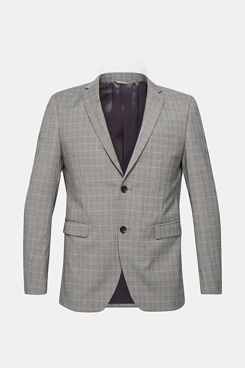GLENCHECK mix + match: jacket with a lapel collar